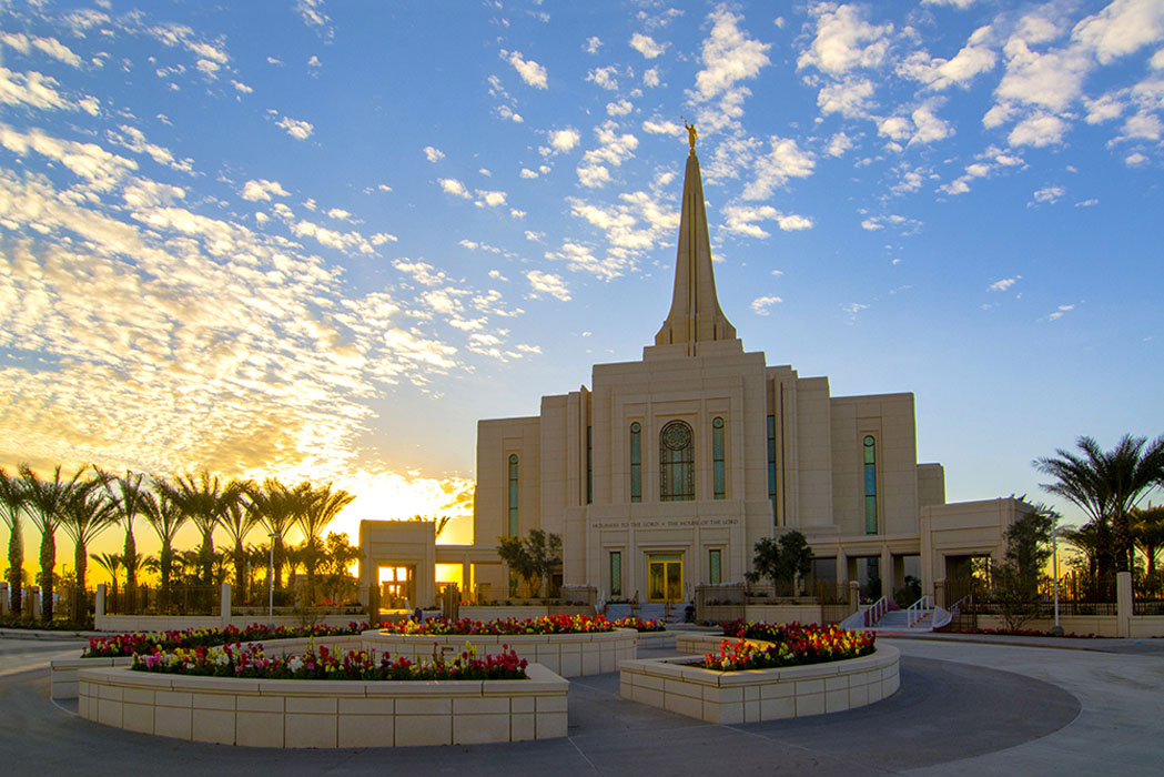 Gilbert Temple Sunset